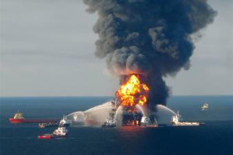 photo of Deepwater Horizon Macondo explosion